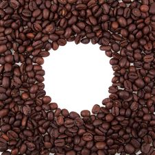 Free Round Frame From Coffee Beans Royalty Free Stock Images - 15412309