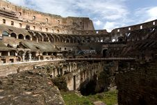 Free Internal Wide Angle View Of The Colosseum In Rome Royalty Free Stock Photo - 15412645