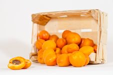 Free Basket With Apricots Stock Photography - 15412722
