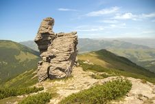 Free Mountain Scene With A Rock Cliff Royalty Free Stock Images - 15414149