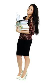 Free Woman With The Book In Hands Stock Images - 15414854