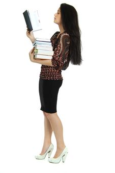 Free Woman With The Book In Hands Royalty Free Stock Image - 15414866