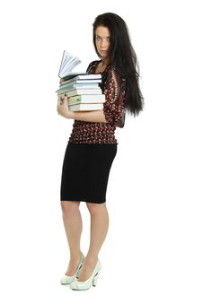 Free Woman With The Book In Hands Stock Photos - 15414873
