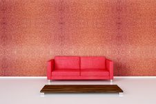 Free Red Sofa Stock Photography - 15414922