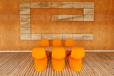 Free Modern Chairs Royalty Free Stock Photo - 15414945