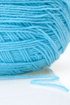 Free Blue Yarn Ball Stock Photography - 15415082