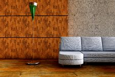 Free 3d Sofa With Lamp Stock Photography - 15415422
