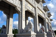 The Pu Tuo Temple Memorial Arch Stock Image