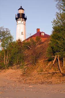Late Afternoon By Au Sable Light Station Royalty Free Stock Photo