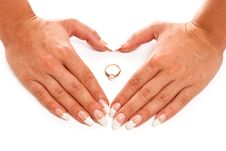 Hands And Ring Royalty Free Stock Photos
