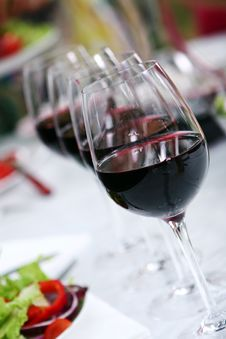 Free Glass Of Wine On The Table Stock Photos - 15418103