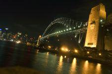 Harbor Bridge Beautifully Lit At Night