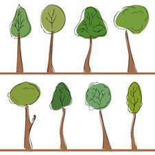 Free Tree Set Stock Photography - 15419682
