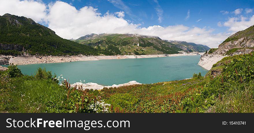 Alpine lake. France