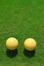 Free Two Ceramic Golf Ball Stock Photography - 15423122