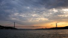Free Bosporus Bridge At Sunset Royalty Free Stock Photo - 15420125