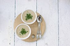 Free Mushroom Soup With Parsley Royalty Free Stock Image - 15420506