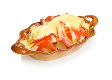 Free Potato Baked With Vegetables. Stock Photos - 15420583