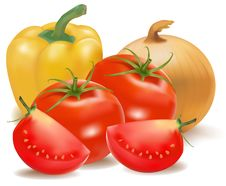Free The Big Colorful Group Of Vegetables. Stock Image - 15421301