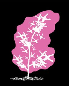 Free Abstract Pink Tree Royalty Free Stock Photos - 15421418