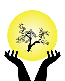 Free Human Hands Caring Tree Royalty Free Stock Photos - 15421468