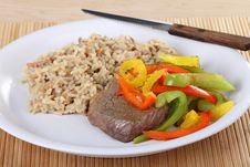 Beef Sirloin Steak Meal Royalty Free Stock Photo