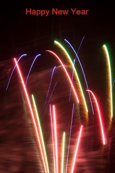 Firework Happy New Year Royalty Free Stock Photography