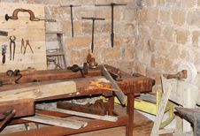 Old Metalwork Workshop Royalty Free Stock Images