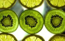 Kiwi And Lemon Background Stock Photos