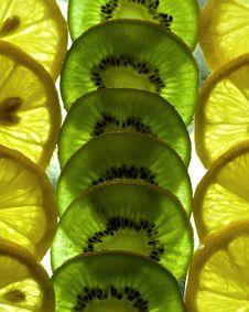 Free Kiwi And Lemon Background Stock Photo - 15422930