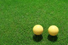 Free Two Ceramic Golf Ball Stock Image - 15423111