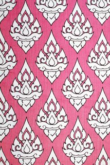 Pattern Of Thai Native Cloths Stock Photography