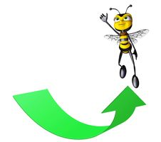 Free Honey Bee Super Flying Up Stock Photos - 15423803