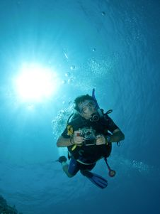 Free Scuba Diver Stock Photos - 15424293