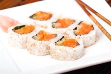 Free Salmon Rolls Royalty Free Stock Image - 15424446