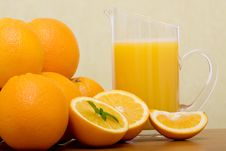 Free Oranges And Orange Juice Stock Image - 15424471