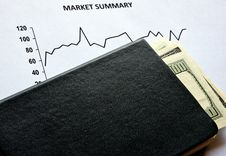 Stock Market And Dollars Stock Images