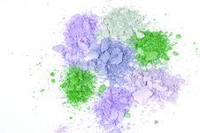 Multicoloured Crumbled Eyeshadows Royalty Free Stock Images