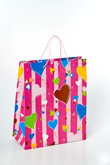 Free Valentine Gift Bag Stock Image - 15425321