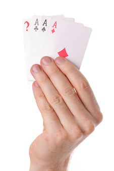 Winning Poker Hand Of Aces Playing Cards Royalty Free Stock Photo