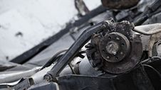 Free Piece Of Wrecked Car Royalty Free Stock Photos - 15425548