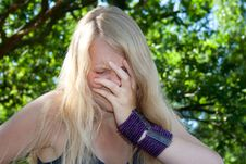 Free Young Woman Cries Stock Photos - 15425633