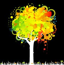 Free Abstract Colorful Tree Stock Images - 15425734