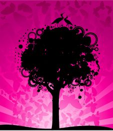 Free Abstract Colorful Tree Stock Photography - 15425802