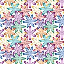 Free Seamless Flower Pattern Stock Photography - 15425812