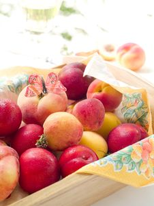 Fesh Apricots And Plums Royalty Free Stock Image