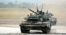 T-90 Is A Russian Main Battle Tank Royalty Free Stock Image