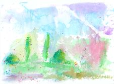 Free Abstract Watercolor Background Royalty Free Stock Image - 15426646