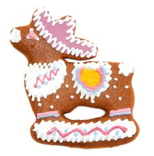 Free Gingerbread In Form Decorated By Glaze Of The Deer Stock Image - 15427121