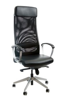 Free Black Leather Easy Chair Stock Photo - 15427140